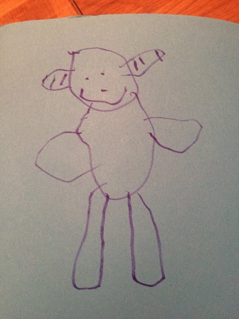 drawing of lamby