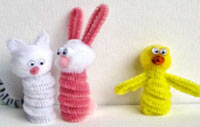 Home made finger puppets