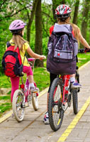 Teach your child to stay safe when they are cycling