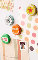 Fathers day gift idea: bottle cap magnets