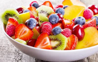 Healthy lunch fruit salad