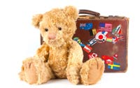 Pack a familiar toy when traveling with children
