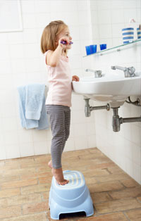 Make sure your child has the right equiptment to brush their teeth